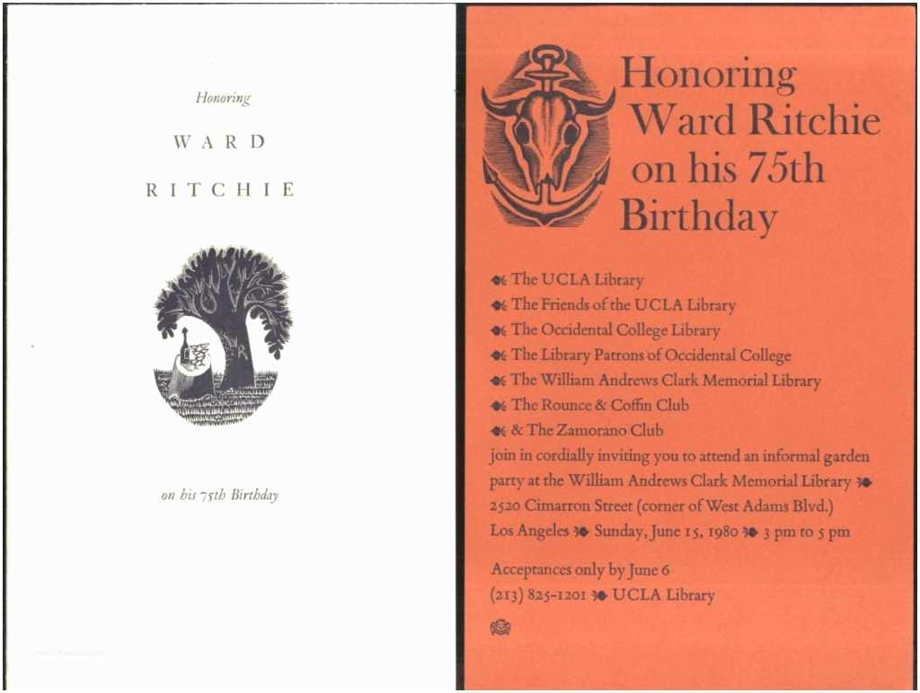 75th Birthday Invitations 75 Birthday Invitation