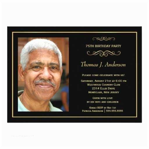 75th Birthday Invitations 75th Birthday Invitation