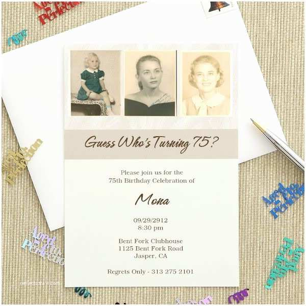 75th Birthday Invitations 75th Birthday Invitations 20 Gorgeous 75th Party