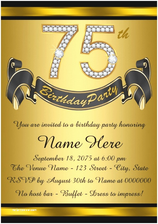 75th Birthday Invitations 75th Birthday Invitations 50 Gorgeous 75th Party Invites
