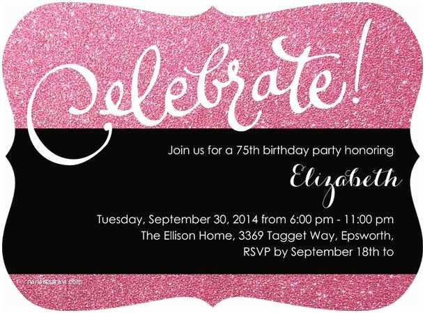 75th Birthday Invitations 75th Birthday Invitations 50 Gorgeous 75th Party