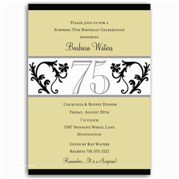 75th Birthday  Elegant Vine Chartreuse 75th Birthday