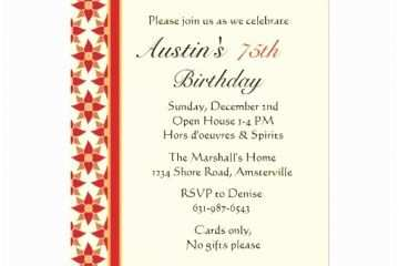 75th Birthday Invitations Personalized Party