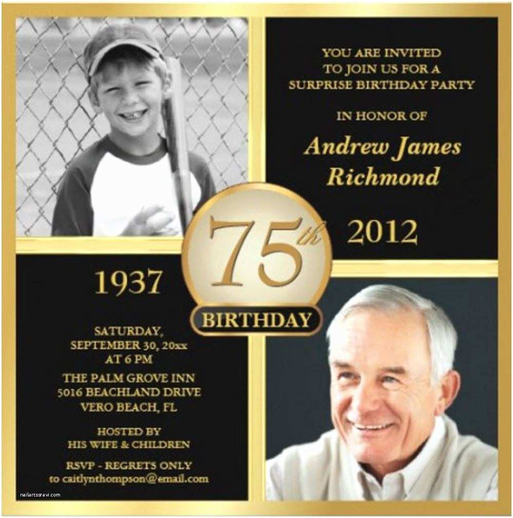 42 75th Birthday Party Invitations