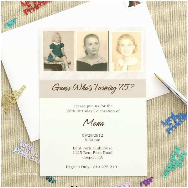 75th Birthday Party Invitations 25 Best Ideas About 75th Birthday Invitations On