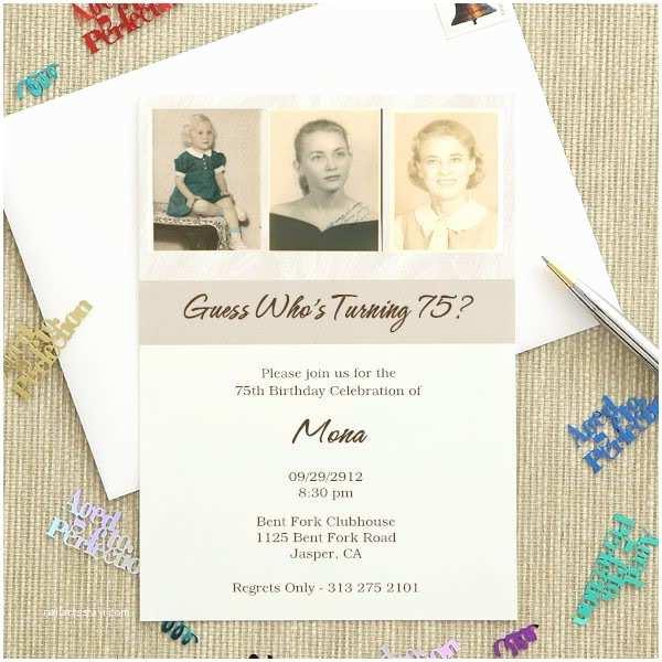 75th Birthday Party Invitations 75th Birthday Invitations 20 Gorgeous 75th Party Invites