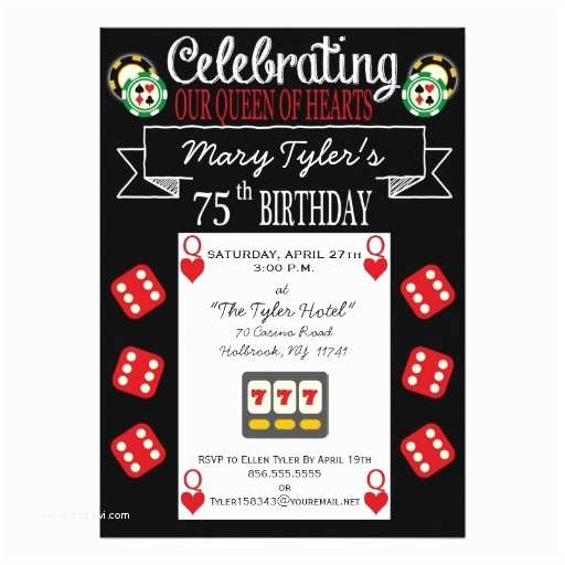 75th Birthday Party Invitations 75th Birthday Invitations 50 Gorgeous 75th Party Invites
