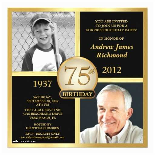 75th Birthday Party Invitations 75th Birthday Invitations 50 Gorgeous 75th Party Invites