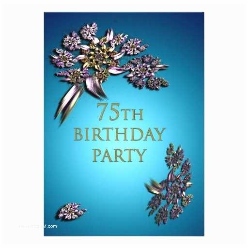 75th Birthday Party Invitations 75th Birthday Party Invitation 13 Cm X 18 Cm Invitation