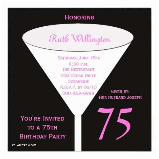 75th Birthday Party Invitations 75th Birthday Party Invitation 75th toast