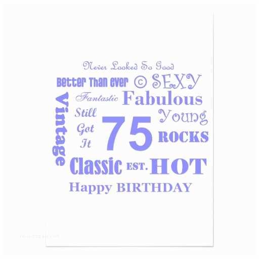 "75th Birthday Party Invitations 75th Birthday Party Invitations 5"" X 7"" Invitation Card"