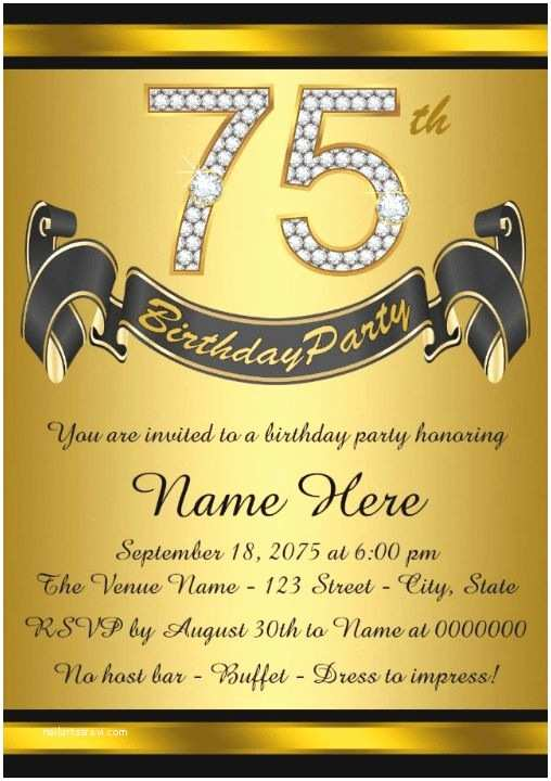 75th Birthday Party Invitations Best 25 Parties Ideas On Pinterest