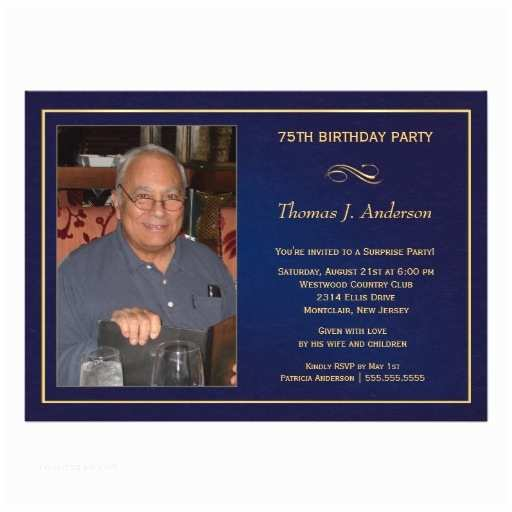 75th Birthday Party Invitations Personalized 75th Birthday Party Invitations
