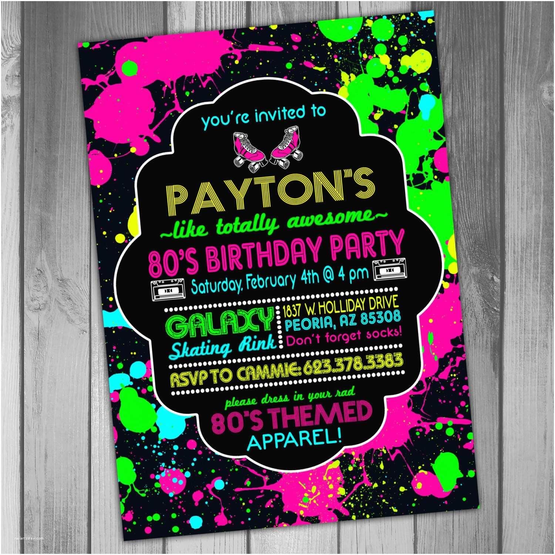 80 Birthday Invitations 80s Party Invitations – Gangcraft