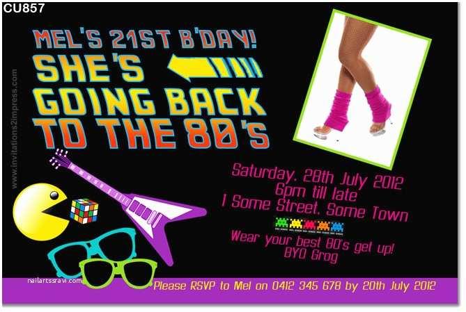 80 Birthday Invitations Cu857 80s Themed Back To The Future Invitation La S