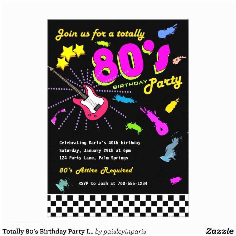 80s Party Invitations 80s Retro Party Invitation Nailartssravi