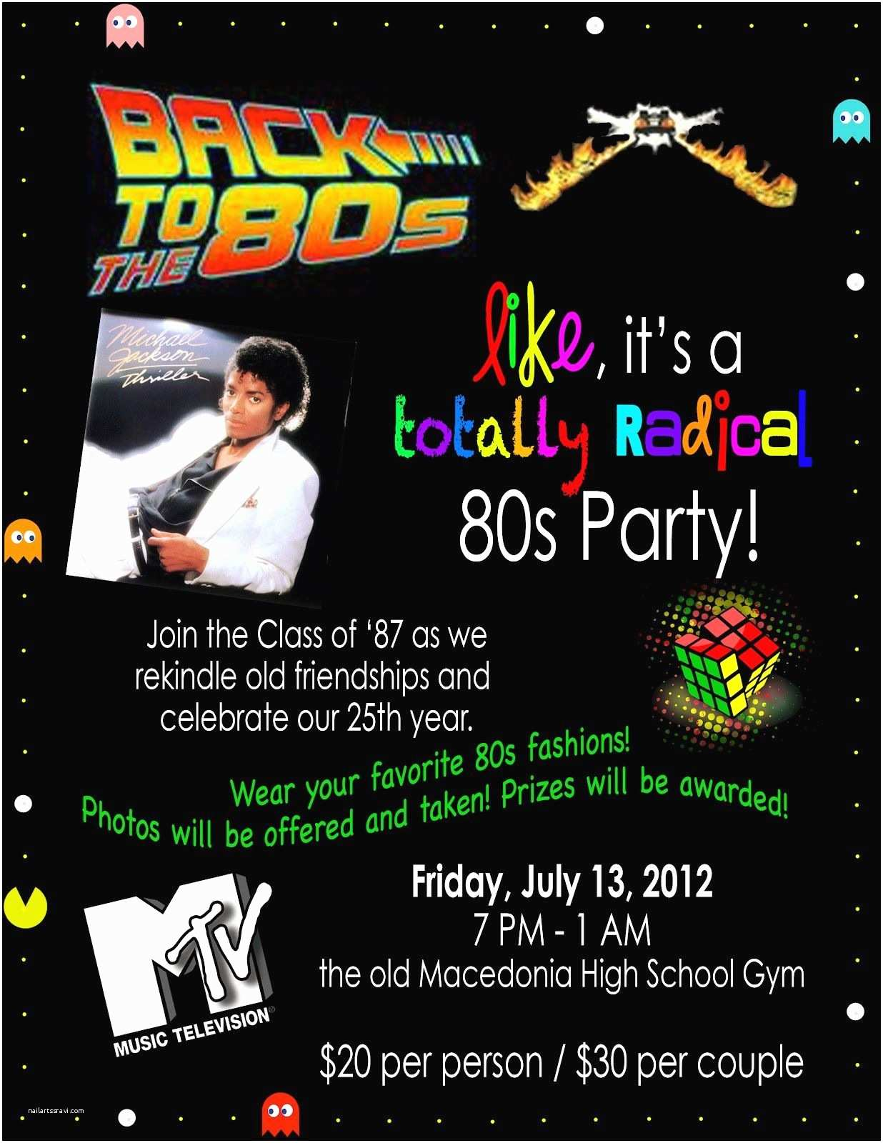 80s party invitations dandeleinss 80s theme party invitation