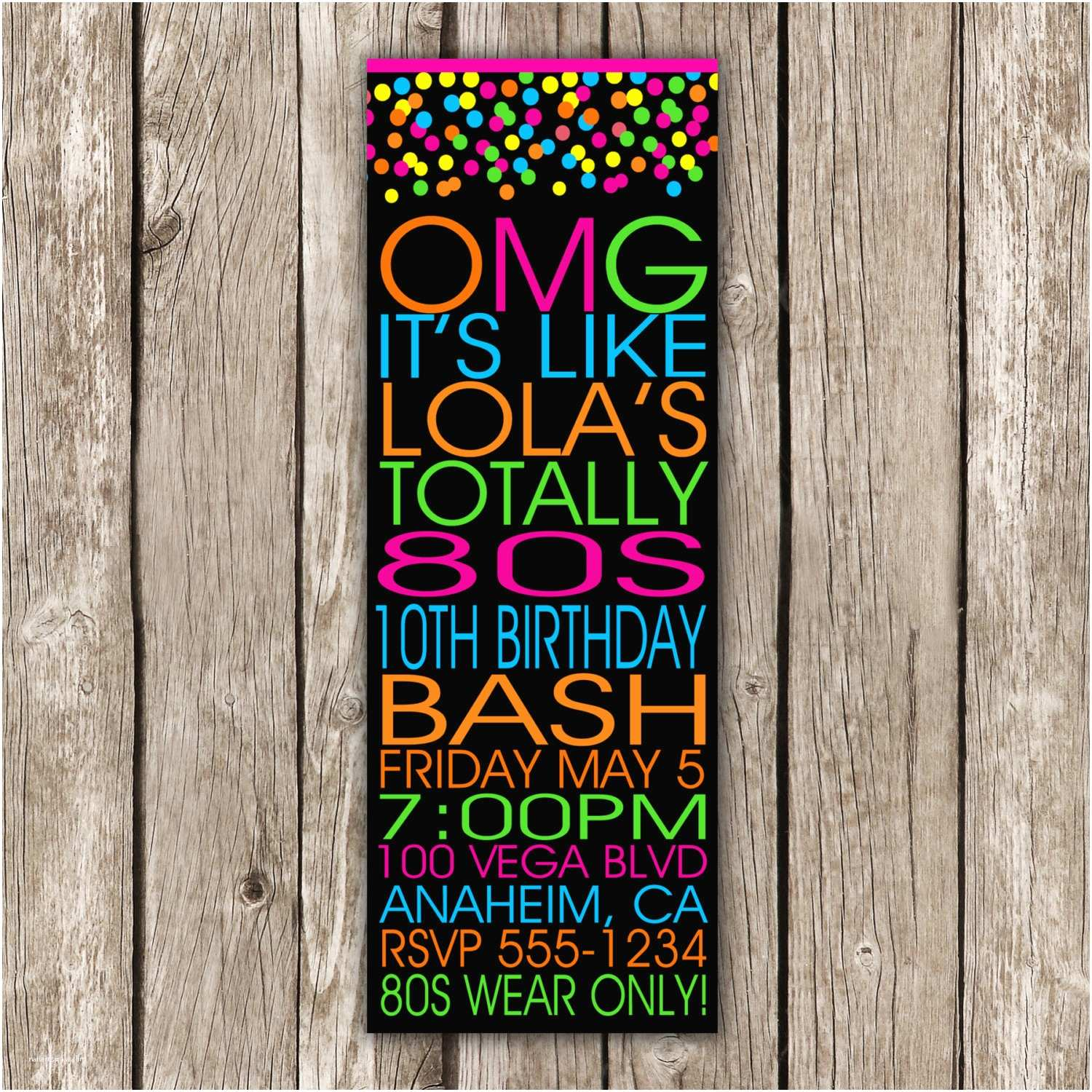80s Party Invitations Template Free 80s Invitation Dance Party Glow Party Save the Date