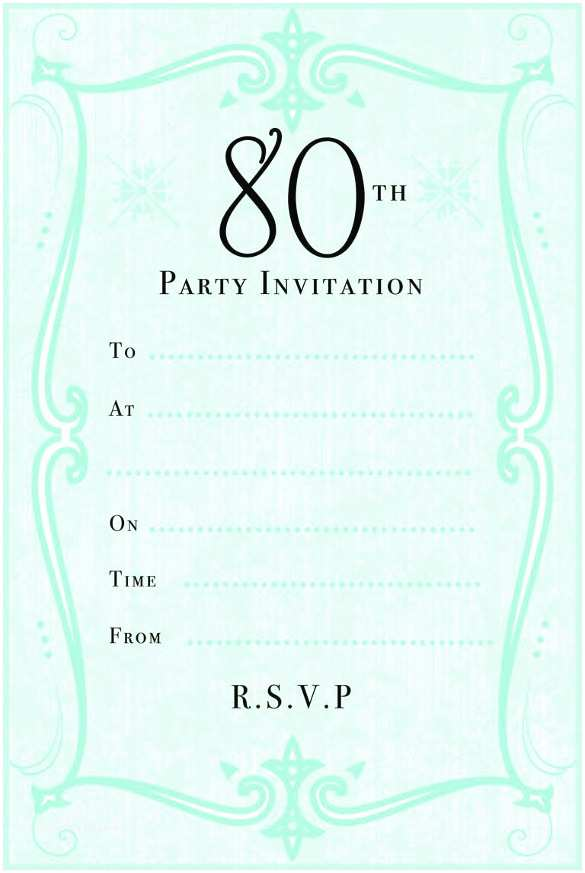 80s Party Invitations Template Free 80th Birthday Invitation Templates – Gangcraft
