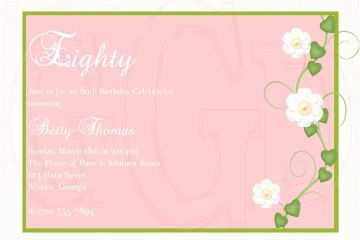 80th Birthday Invitation 15 Sample Invitations