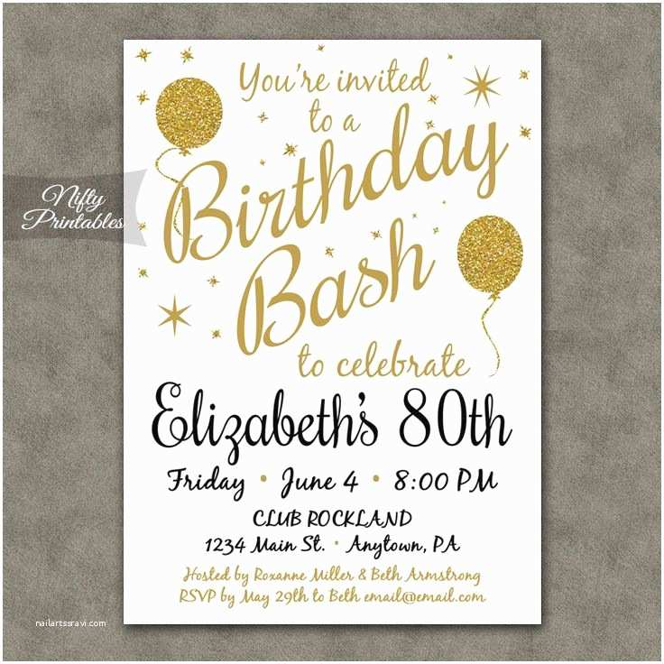 80th Birthday Invitation 25 Best 80th Birthday Parties Ideas On