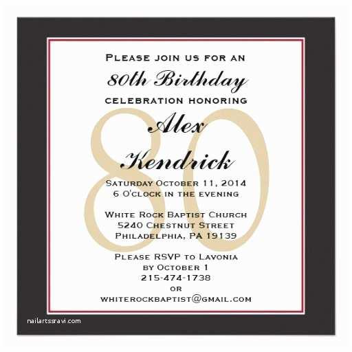80th Birthday Invitation 80th Birthday Party Square Invitation