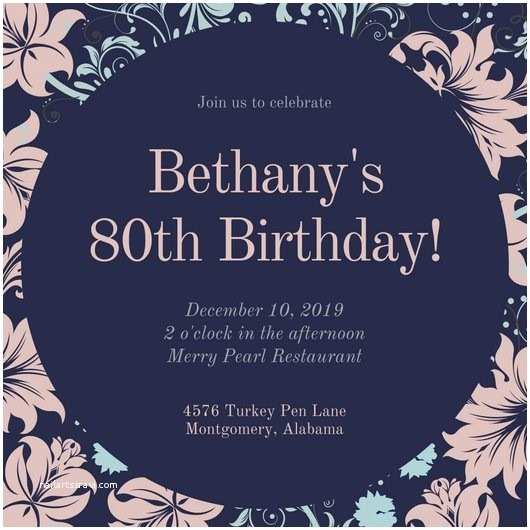 80th Birthday Invitation Party Invitations Excellent