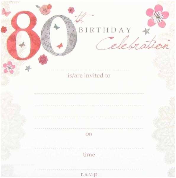 80th Birthday Invitations 80th Birthday Party Invitations Template