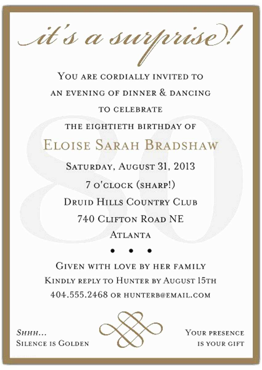 80th Birthday Party Invitations 10 Sample 80th Birthday Party Invitations