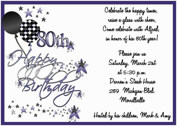 80th Birthday Party Invitations Invitations On Pinterest Nailartssravi