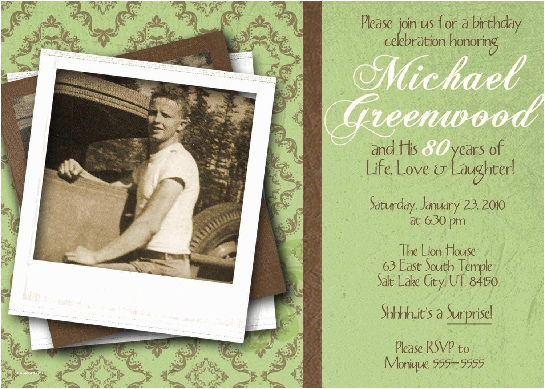 80th Birthday Party Invitations 80th Birthday Celebration Invitation