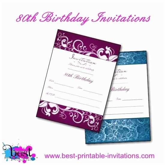 80th Birthday Party Invitations 80th Birthday Invitation