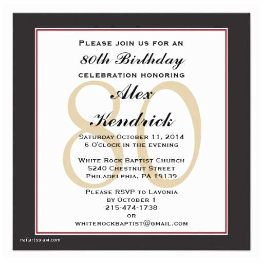 80th Birthday Party Invitations 80th Birthday Party Square Invitation