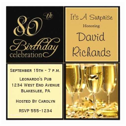 80th Birthday Party Invitations Surprise 80th Birthday Party Invitations