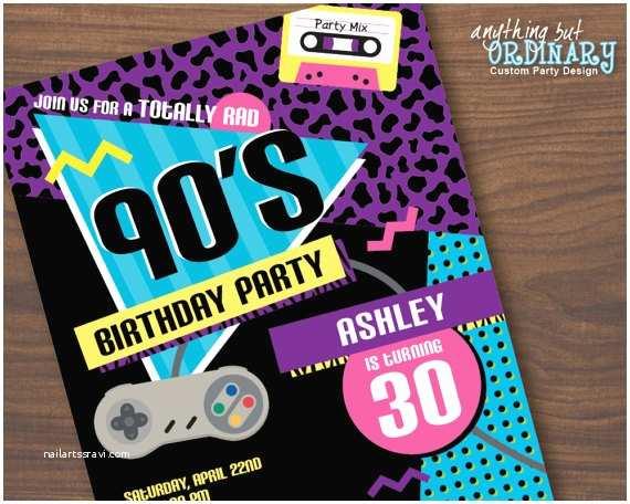 90s Party Invitation 90s Party Invitation