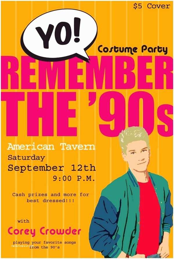90s Party Invitation 90s Party
