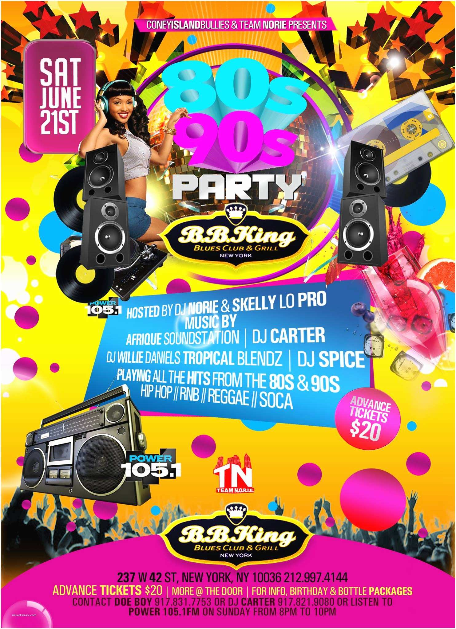 90s Party Invitation tonight Last Chance to Tixs Online 80s and 90s Party