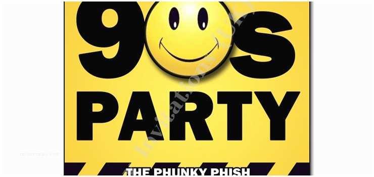 90s theme Party Invitations 90s Party Invitations