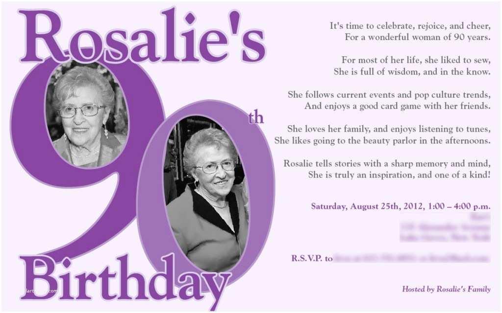 90th Birthday Invitations 90th Birthday Invitations Templates