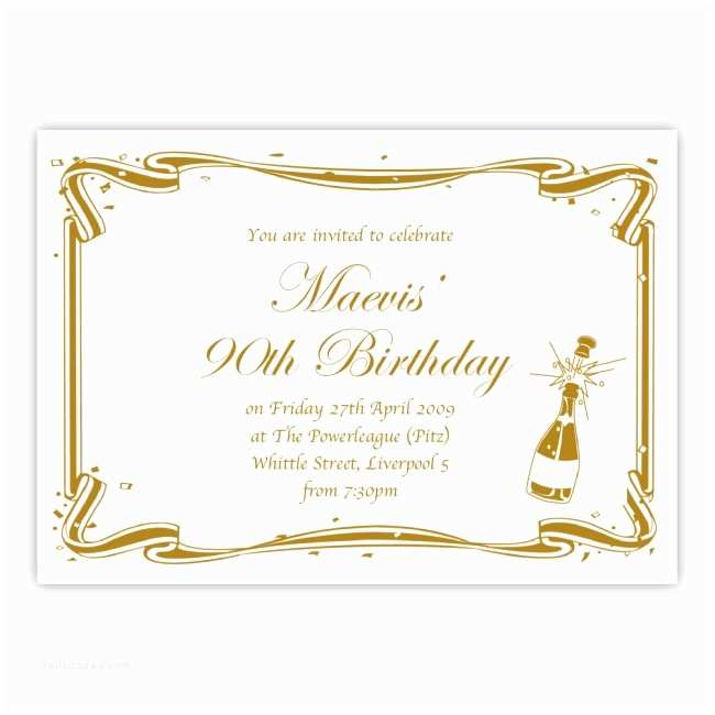 90th Birthday Invitations 90th Birthday Party Invitation Birthdays