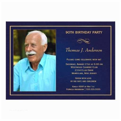 90th Birthday Invitations 90th Birthday Party Invitations Add Your Photo Customize