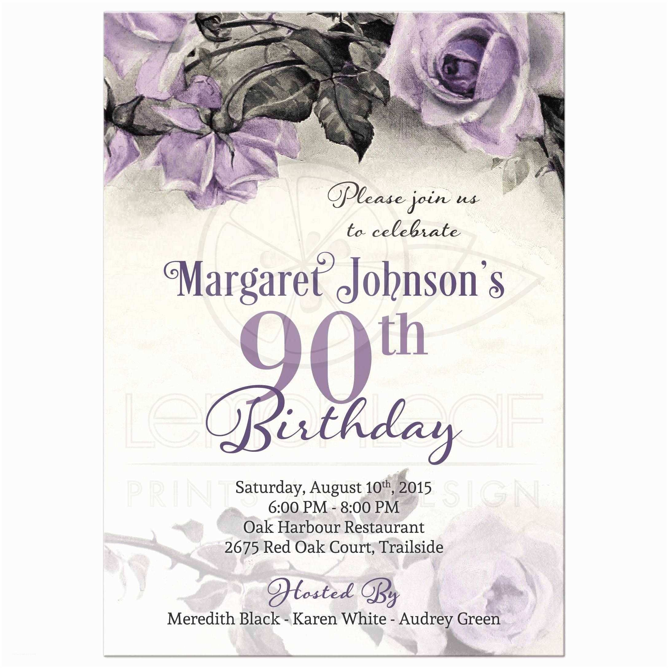 graphic regarding Free Printable 90th Birthday Invitations identified as 90th Birthday Invites Absolutely free Printable 90th Birthday