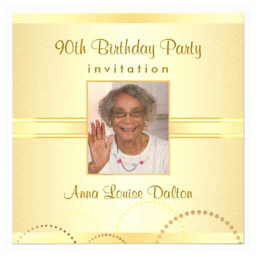90th Birthday Invitations Party Optional 5 25
