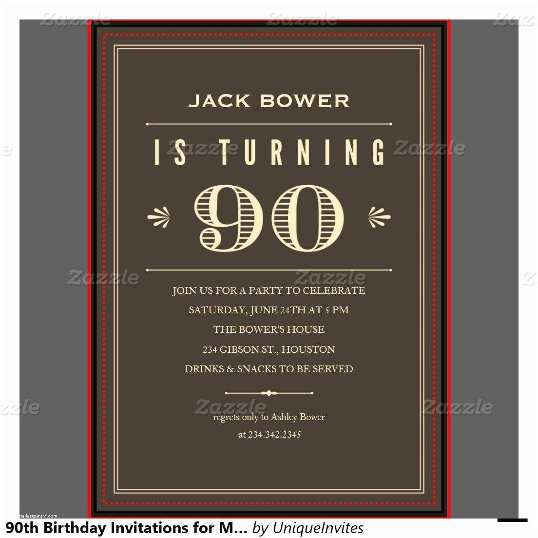 90th Birthday Invitations Free Printable 90th Birthday Invitations