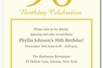 90th Birthday Party Invitations 15 Tips