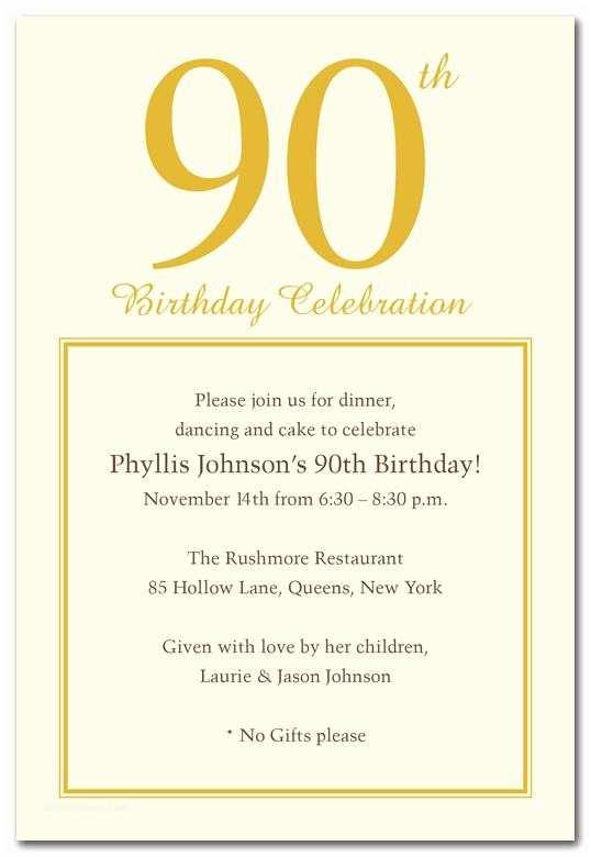 90th Birthday Party Invitations 15 Tips Sample Templates