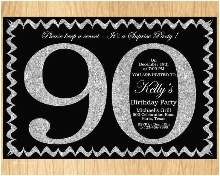 90th Birthday Party Invitations 17 Best Ideas About 90th Birthday Invitations On Pinterest