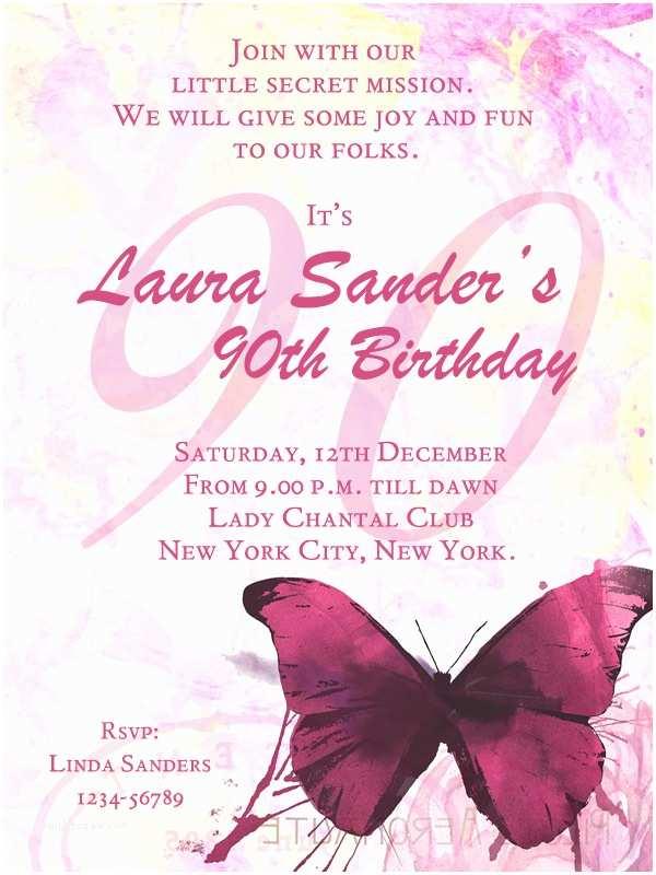 90th Birthday Party Invitations 90th Birthday Party Invitations 365greetings