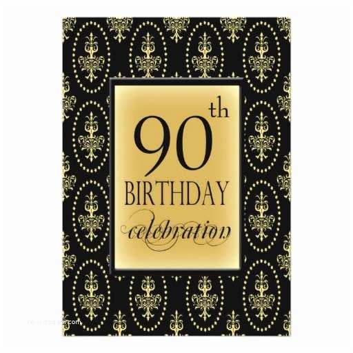 90th Birthday Party Invitations Personalized Invitation