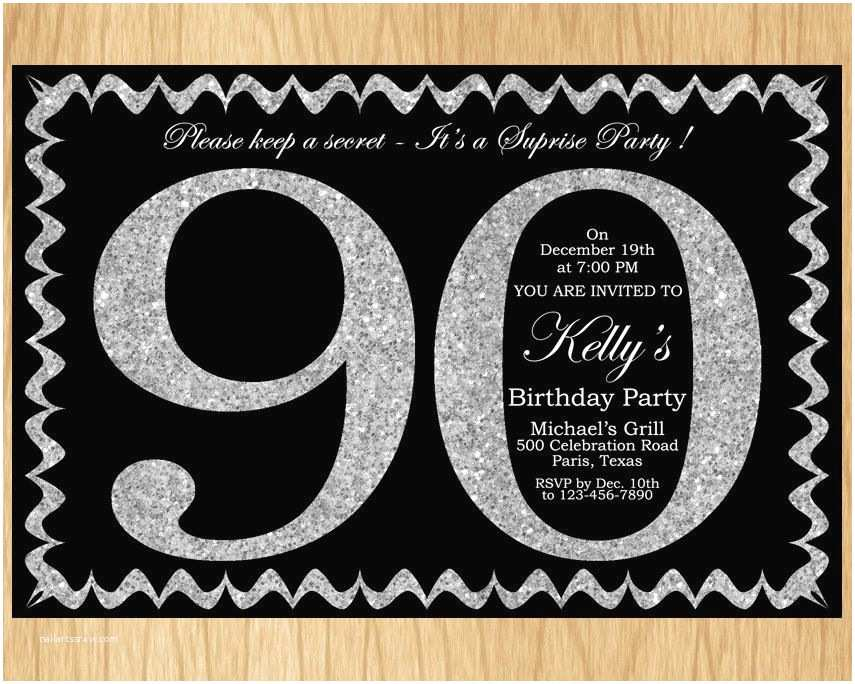 90th Birthday Party Invitations Best